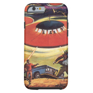 Vintage Science Fiction, Sci Fi UFO Alien Invasion Tough iPhone 6 Case