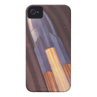 Vintage Science Fiction Space Ship Rockets iPhone 4 Covers