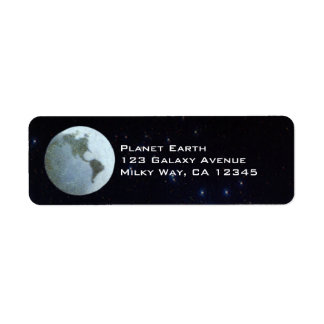 Vintage Science Fiction, Space Station on the Moon Return Address Label