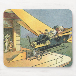 Vintage Science Fiction Steampunk Convertible Car Mouse Pad