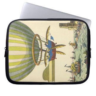 Vintage Science Fiction Steampunk Hot Air Balloon Laptop Computer Sleeves