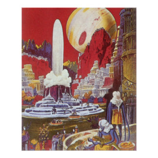 Vintage Science Fiction, the Lost City of Atlantis Poster