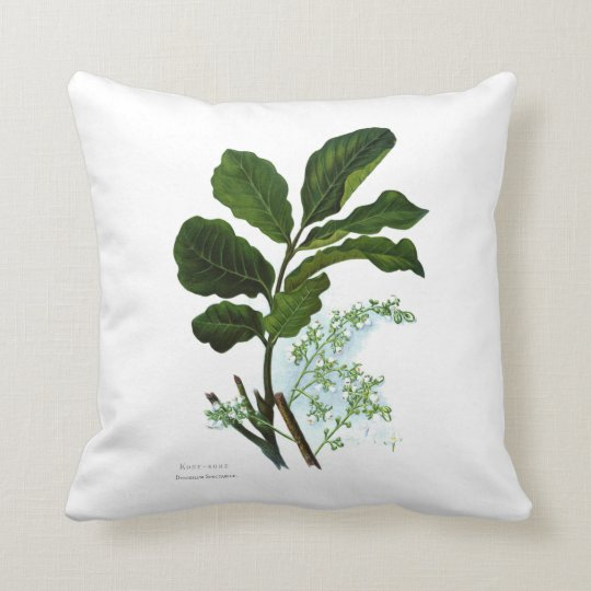 Vintage Science NZ Flowers - Kohe Kohe Throw Pillow