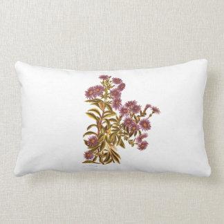 Vintage Science NZ Flowers - Olearia semidentata Lumbar Pillow