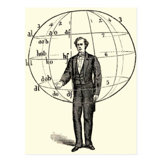 Vintage Scientific Illustration of a Man Gesturing Postcard