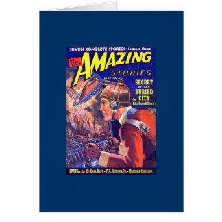 Vintage SciFi Comic Astounding Stories Buried City Card
