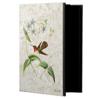 Vintage Scintillant Hummingbird Monogrammed iPad Air Covers