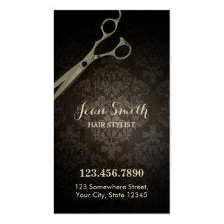Vintage Scissor Damask Hair Stylist Pack Of Standard Business Cards