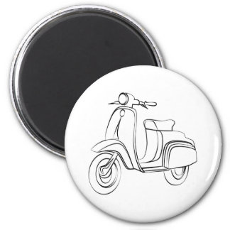 Vintage Scooter Magnet
