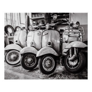 Vintage Scooter | Perfect Poster | New York USA