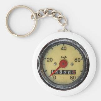 Vintage Scooter Speedometer Basic Round Button Keychain