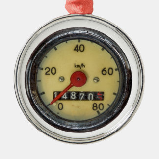 Vintage Scooter Speedometer Metal Ornament