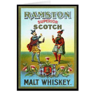 Vintage Scotch Whiskey LABEL Card