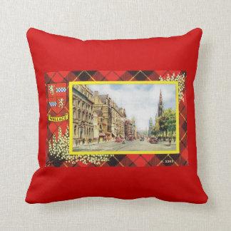 Vintage Scotland, Clan Wallace Throw Pillow