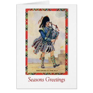 Vintage Scotland, Follow the Bagpipes Card