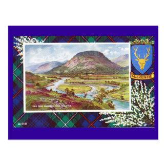 Vintage Scotland, Mackenzie tartan, Ballater Postcard