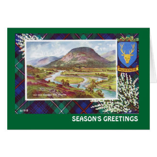 Vintage Scotland, Seasons Greetings, Mackenzie, Card