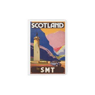 VINTAGE SCOTLAND TRAVEL POSTER PASSPORT HOLDER