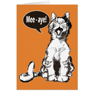 Vintage Scottish Independence Aye Cat Card