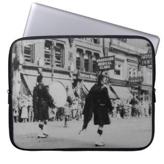 Vintage Scottish Marching Band Laptop Sleeve