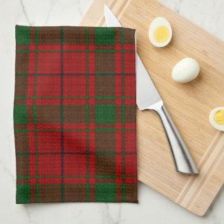 Vintage Scottish Tartan Plaid Red Green Pattern Kitchen Towel