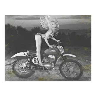 VINTAGE SCRAMBLER AND HOT MODEL. POSTCARD