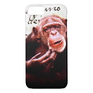 vintage scripts funny Chimpanzee iPhone 8/7 Case