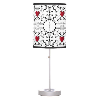 Vintage Scroll and Heart Pattern Lamp