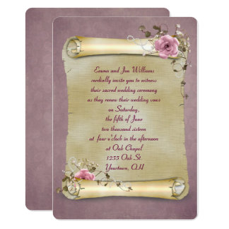 Vintage Scroll Vow Renewal Card
