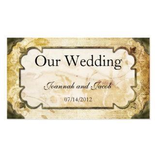 Vintage Scrolls Steampunk Wedding Website Card Business Card Template
