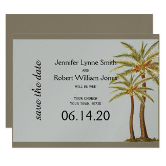 Vintage Sea Animals Beach Wedding Save the Date Card