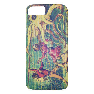 Vintage Sea Monster Friend or Foe iPhone 7 Case