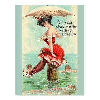 Vintage Sea Shore Travel Post Card