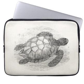 Vintage Sea Turtle Personalized Marine Turtles Laptop Computer Sleeve