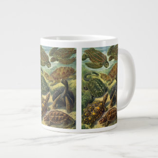 Vintage Sea Turtles and Tortoises by Ernst Haeckel Giant Coffee Mug