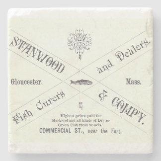 Vintage Seafood Ad Stone Coaster