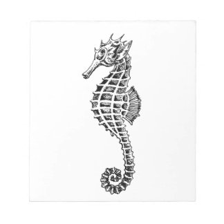 Vintage Seahorse Sea Ocean Animal Notepad