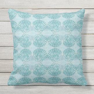 Vintage Seashell Pattern Throw Pillow