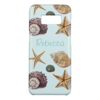 Vintage seashells aqua blue beach starfish Case-Mate samsung galaxy s8 case