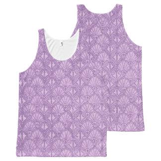 Vintage Seashells Lavender Purple