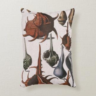 Vintage Seashells, Marine Life, Ocean Sea Shells Decorative Pillow