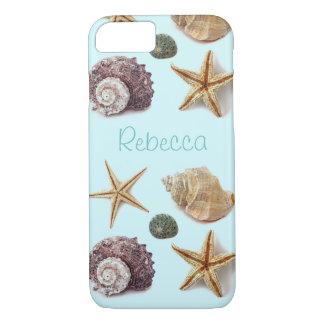 Vintage seashells shabby chic beach starfish iPhone 8/7 case