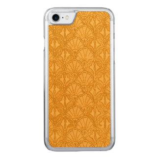 Vintage Seashells Yellow Gold Mango Carved iPhone 7 Case