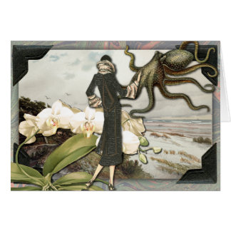 Vintage Seaside Collage Greeting Card