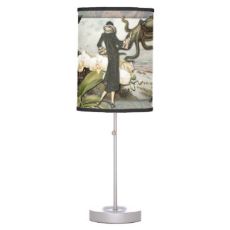 Vintage Seaside Collage Lamp