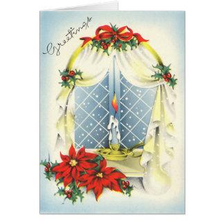 Vintage Season's Greetings Card