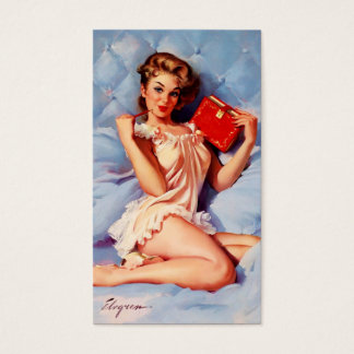 Vintage Secret Diary Gil Elvgren Pin Up Girl Business Card
