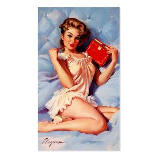 Vintage Secret Diary Gil Elvgren Pin Up Girl Business Card Template