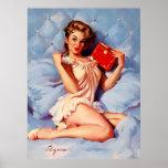 Vintage Secret Diary Gil Elvgren Pin Up Girl Poster