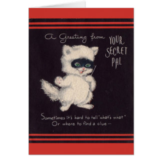 Vintage Secret Pal Greeting Card